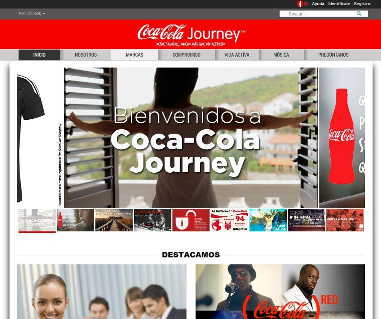 cómo hacer marketing de contenidos: Coca Cola Journey