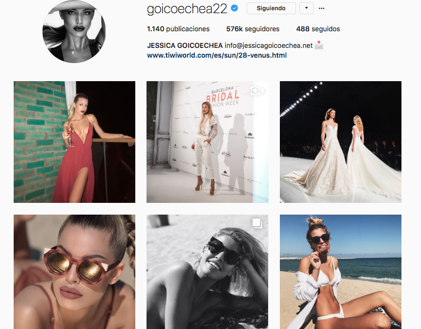 top influencers de moda en Instagram: Jessica Goicoechea