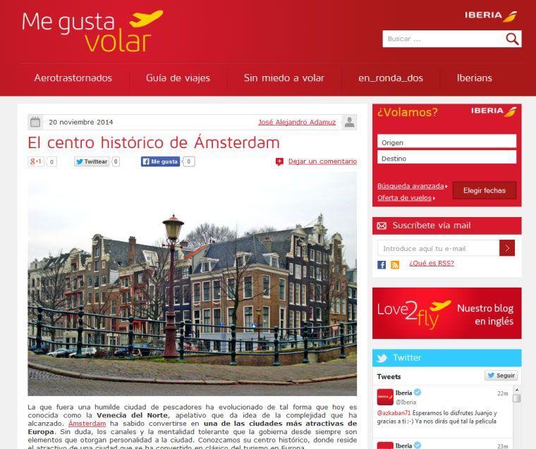 cómo hacer marketing de contenidos: Iberia