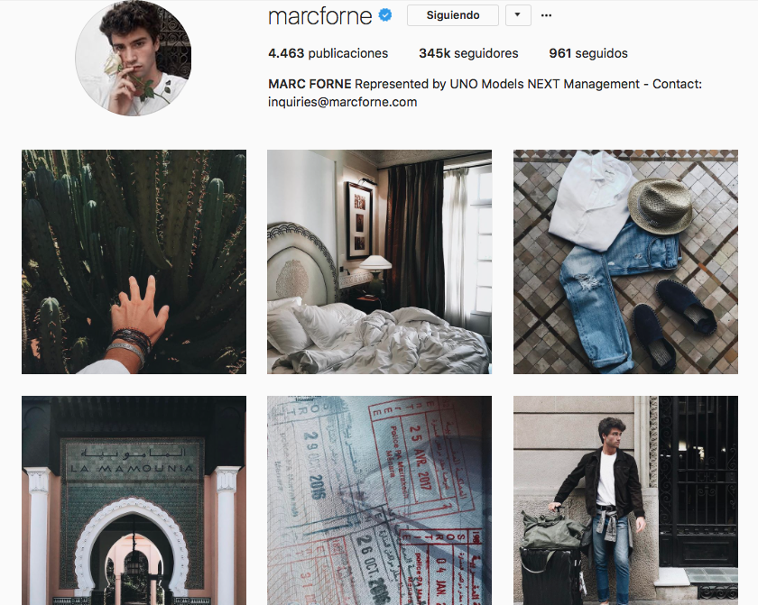 top influencers de moda en Instagram: Marc Forné