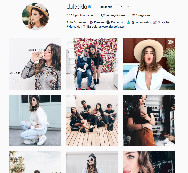 top influencers de moda en Instagram: Dulceida