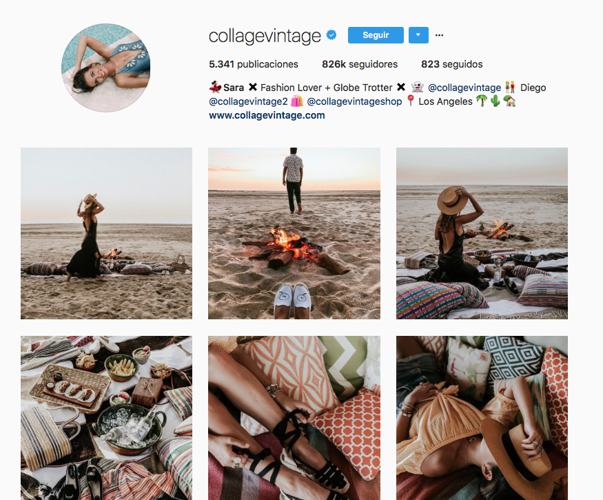 top influencers de moda en Instagram: Collage Vintage