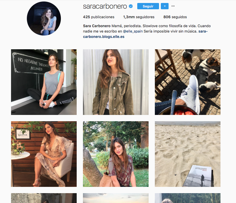 top influencers de moda en Instagram: Sara Carbonero