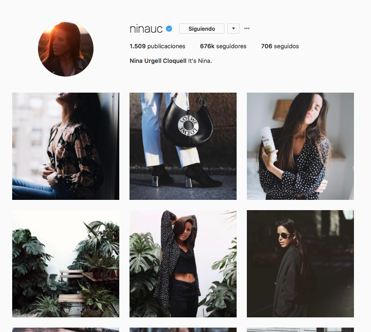 top influencers de moda en Instagram: Nina Urgell