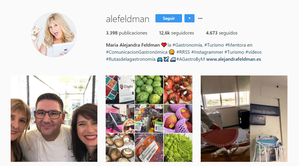top influencers de Instagram en gastronomía: Ale Feldman