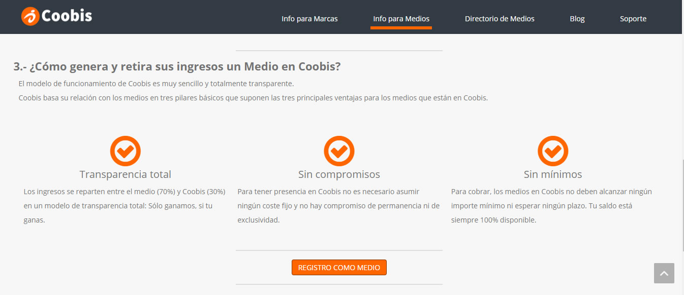 Plataforma de content marketing Coobis