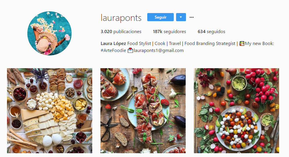 top influencers de Instagram en gastronomía: Laura Ponts