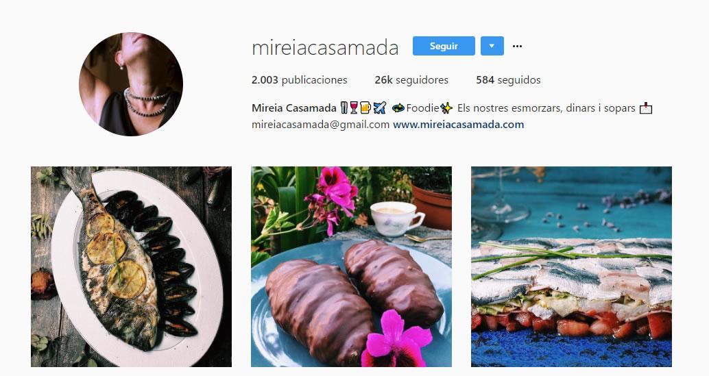 top influencers de Instagram en gastronomía: Mireia Casamada
