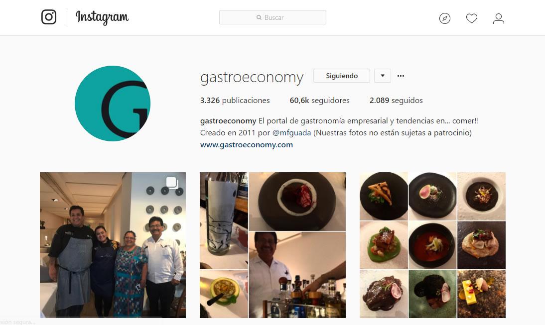top influencers de Instagram en gastronomía: Gastroeconomy