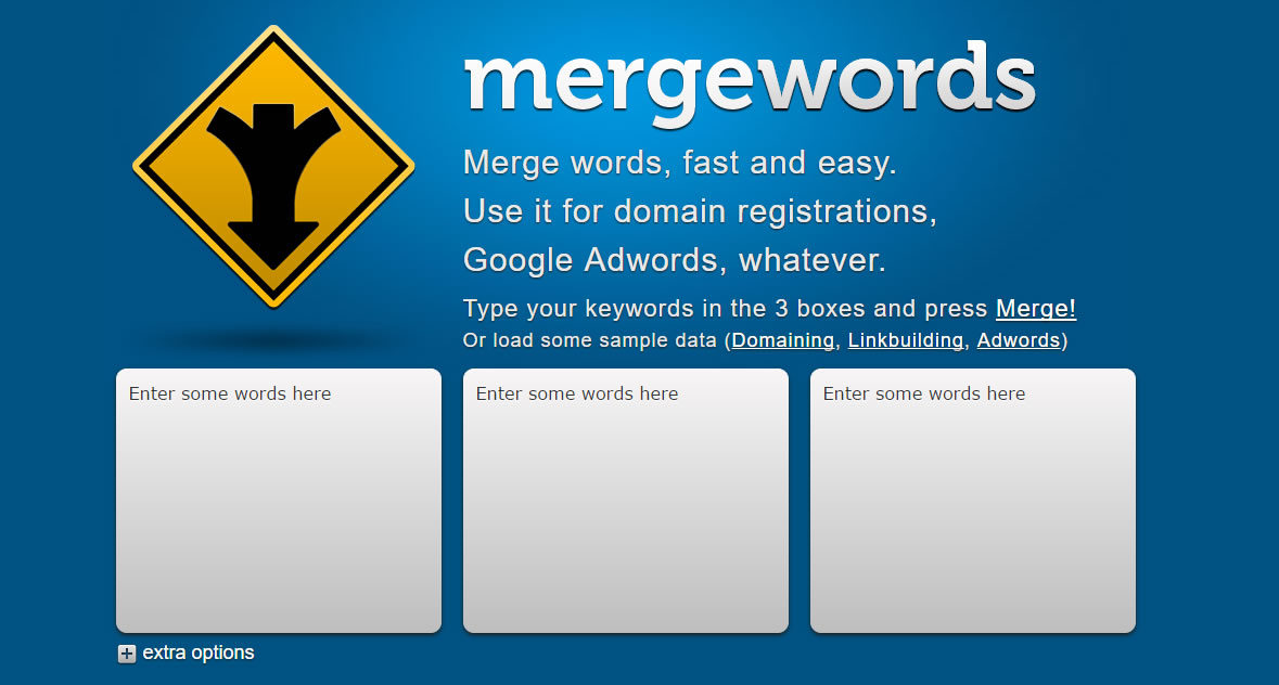 herramientas para encontrar keywords: Mergewords