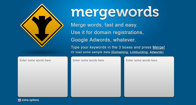 herramientas para encontrar keywords: Mergewords