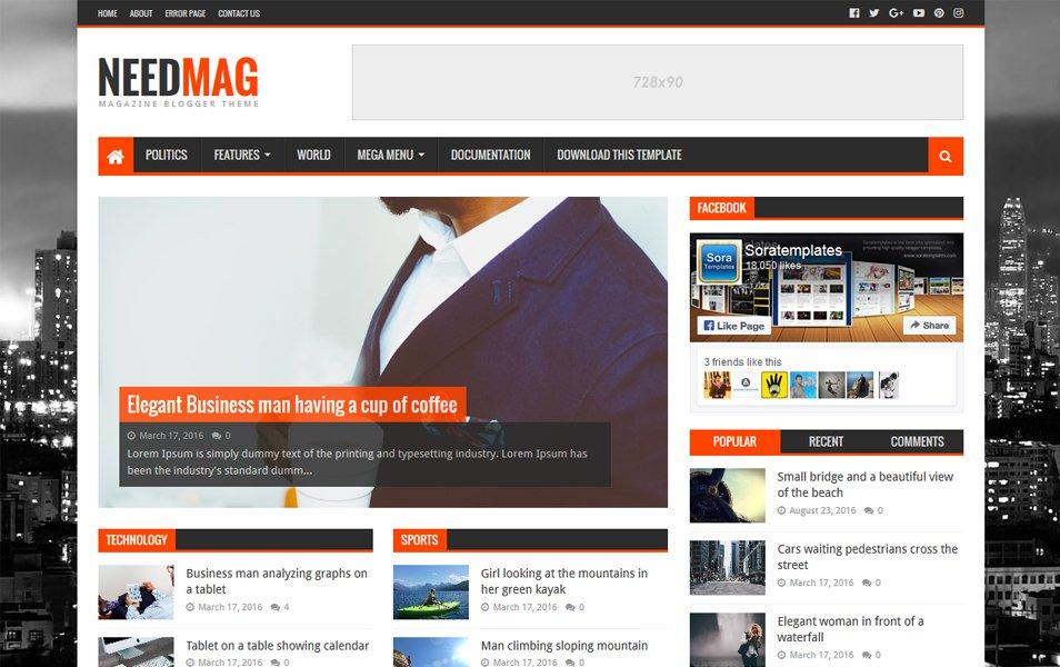 plantillas responsive para bloggers: NeedMag