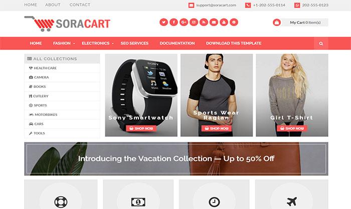 plantillas responsive para bloggers: Sora Cart