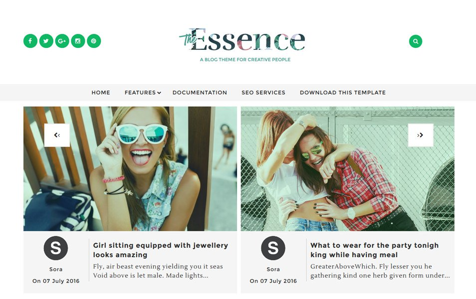 plantillas responsive para bloggers: The Essence
