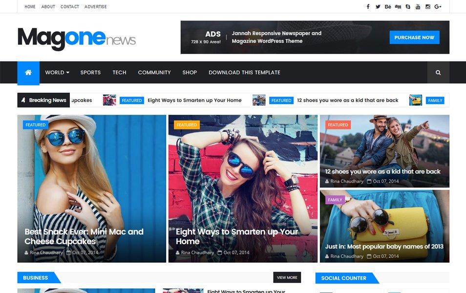 plantillas responsive para bloggers: MagOne