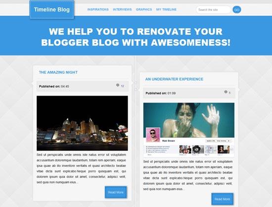 plantillas responsive para bloggers: Timeline Magazine