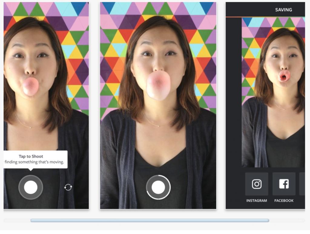 apps para crear contenidos de redes sociales: Boomerang