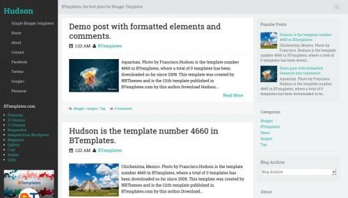 hudson-blogger-template - Content Marketing | Coobis