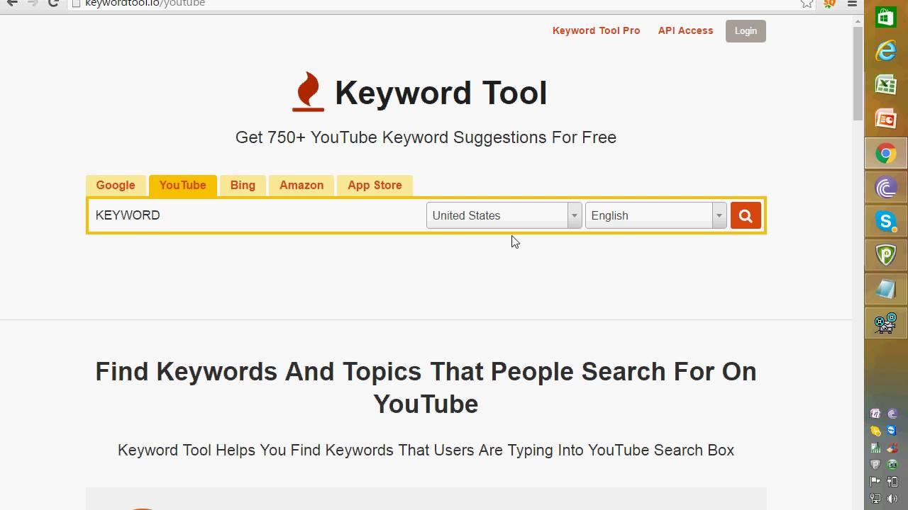 convertirse en youtuber: Keyword Tool