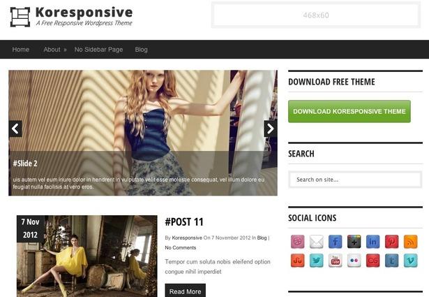 plantillas responsive para bloggers: Koresponsive