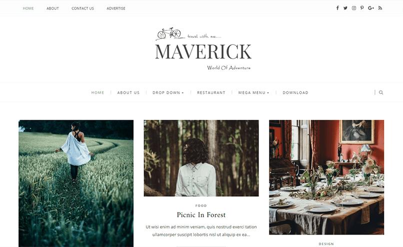 plantillas responsive para bloggers: Maverick