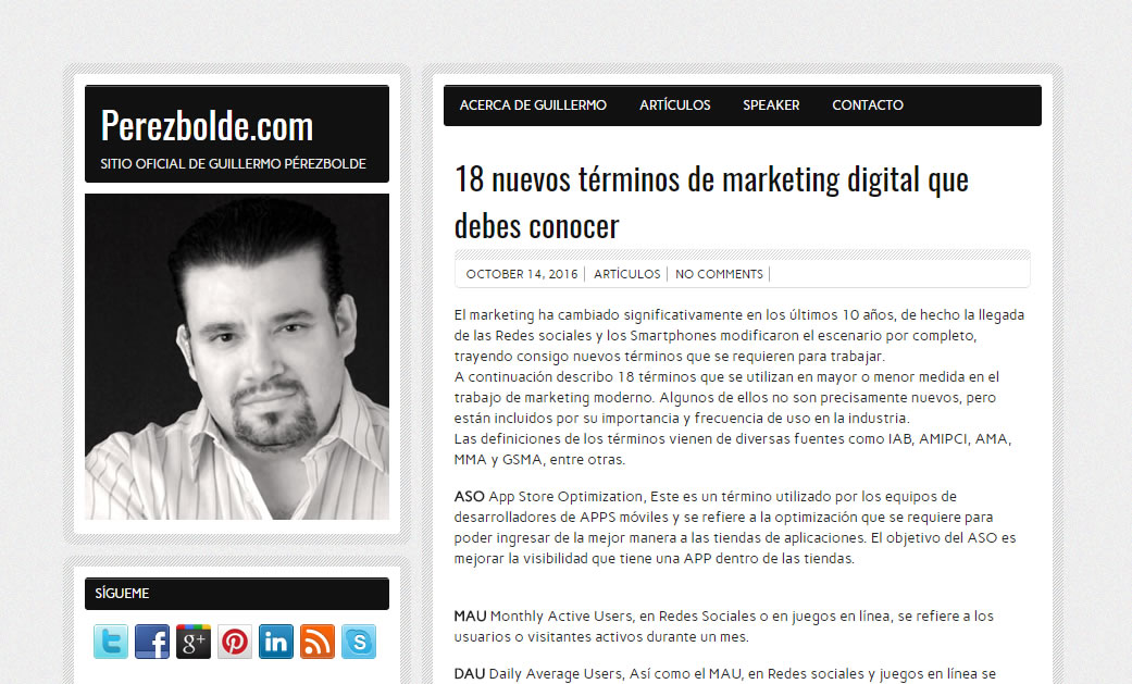 blogs de marketing de Mexico: Pérez Bolde