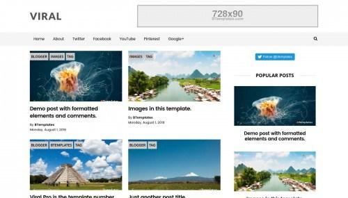 plantillas responsive para bloggers: Viral Pro