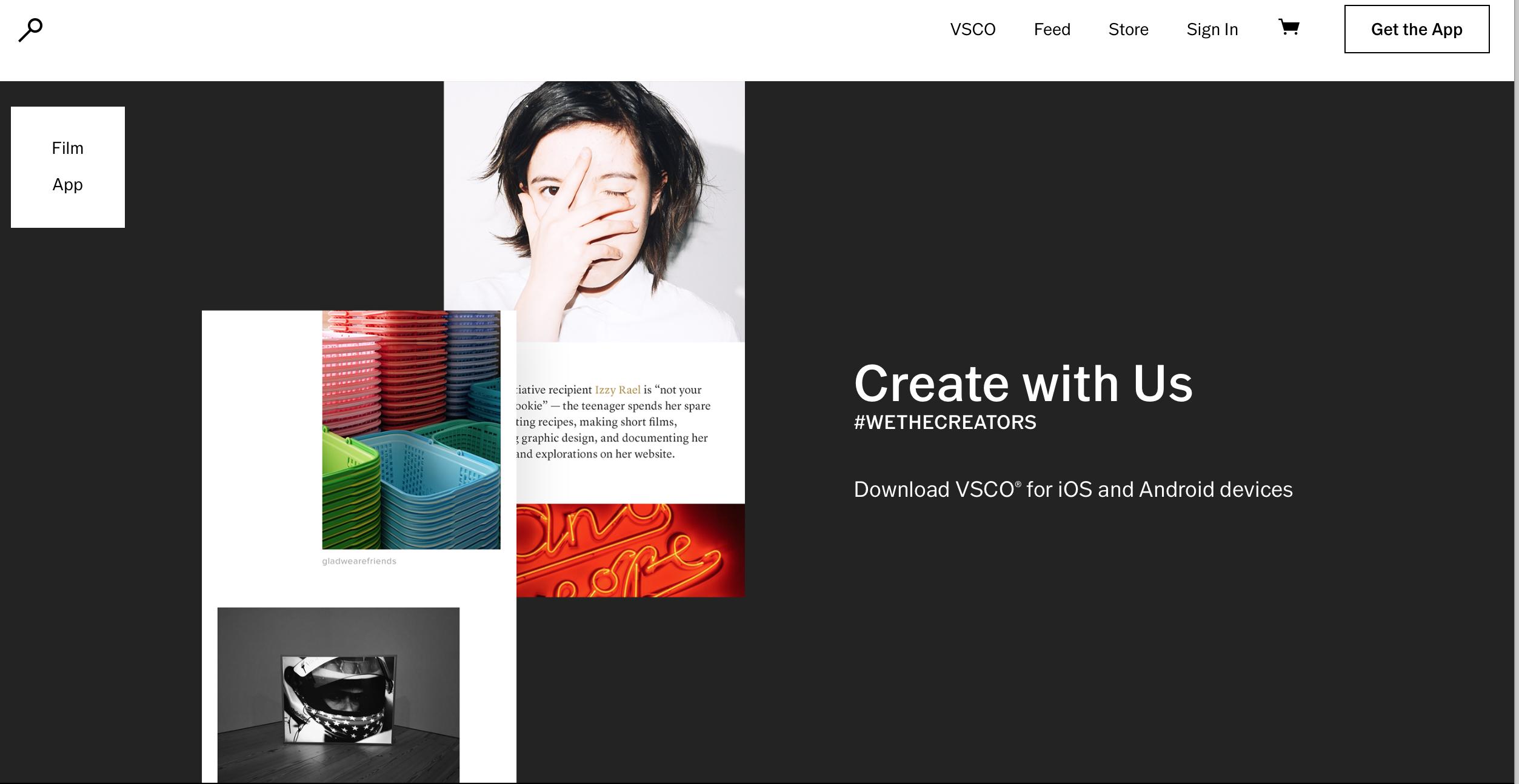 apps para crear contenidos de redes sociales: VSCO