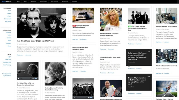 plantillas responsive para bloggers: WallPress