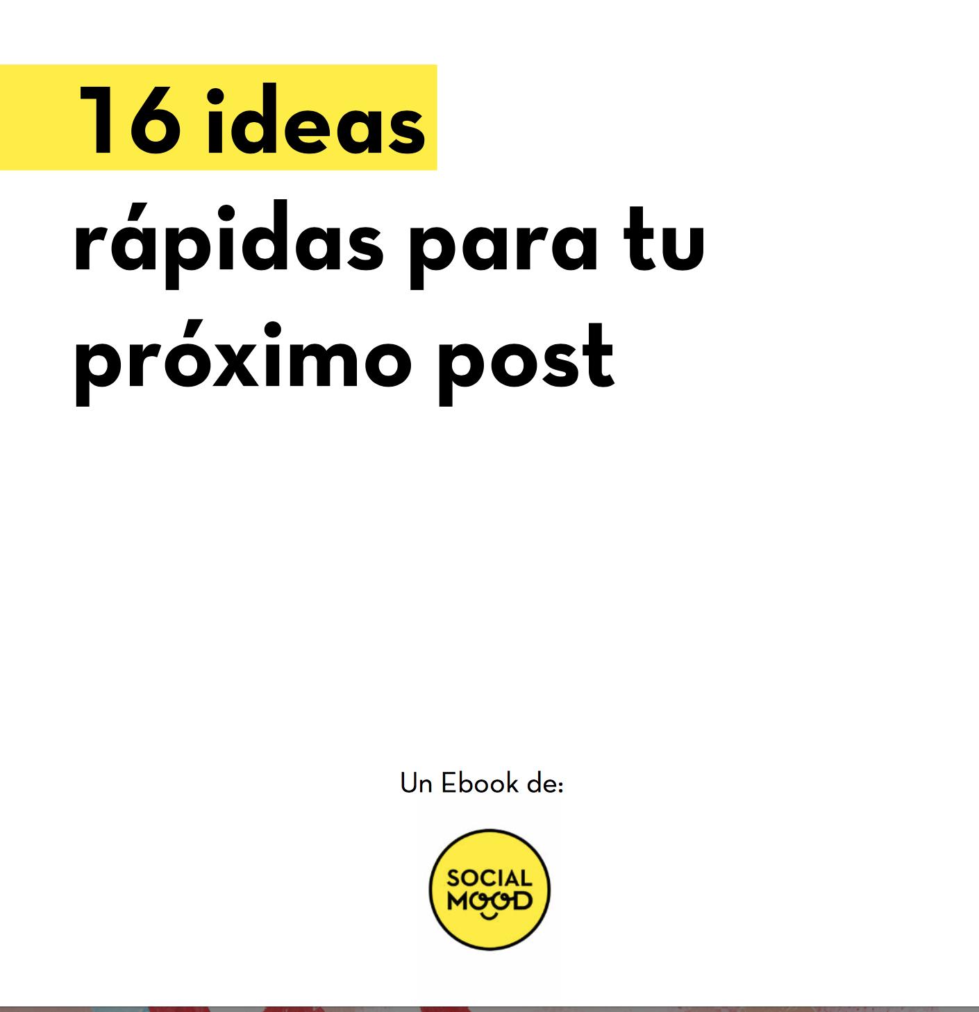 16 ideas para crear contenidos