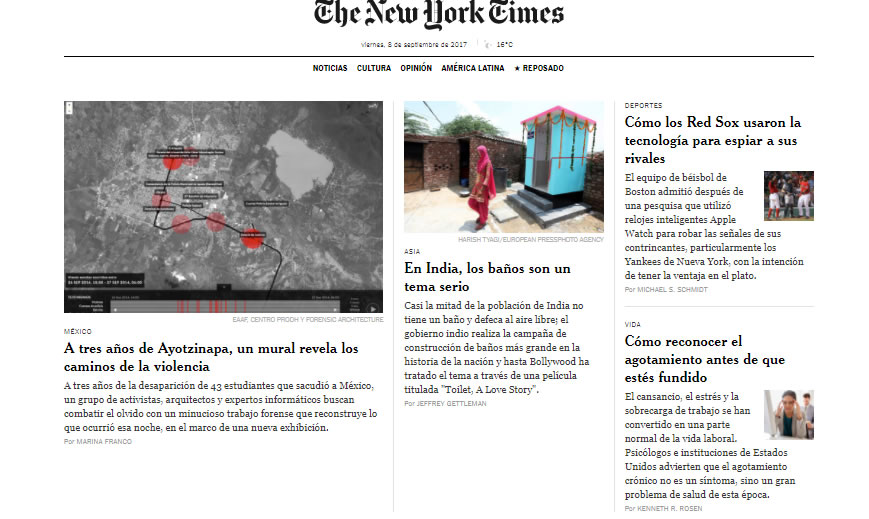 buenas prácticas de content marketing: The New York Times