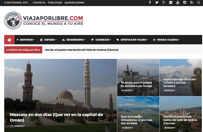 blogs de viajes en español: Viaja por libre
