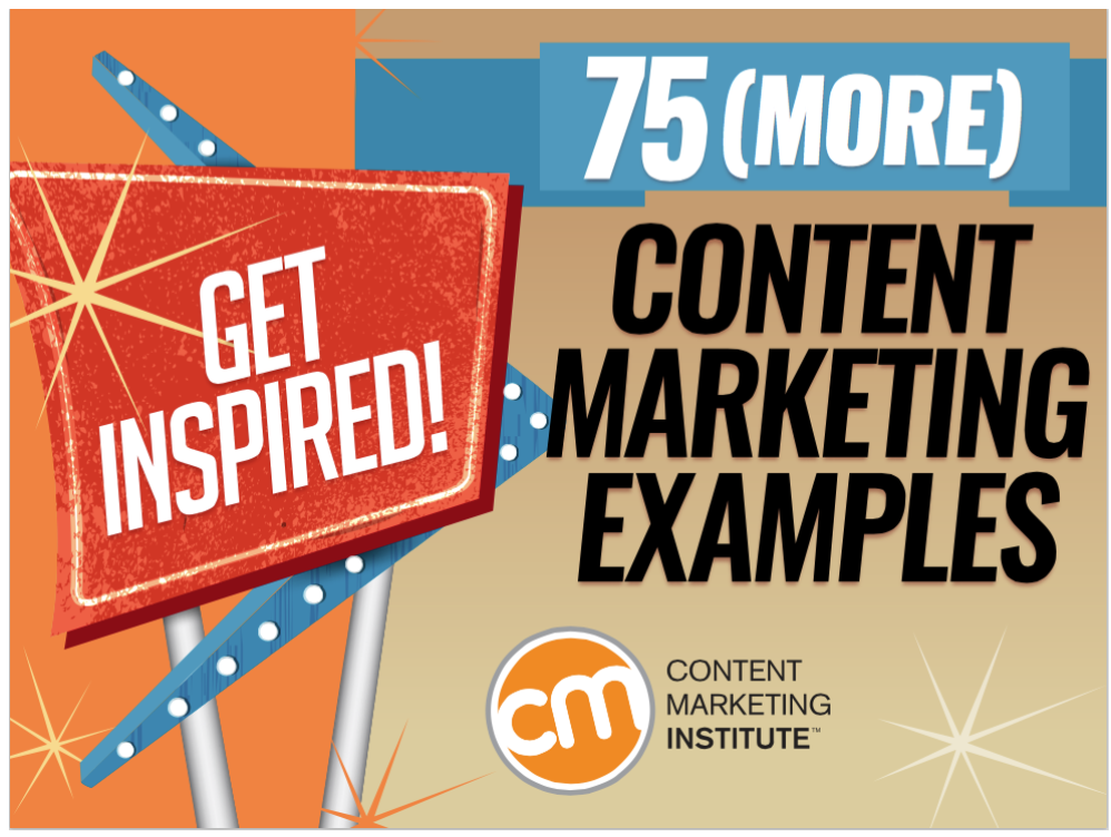 ebooks de content marketing: 75 content marketing examples