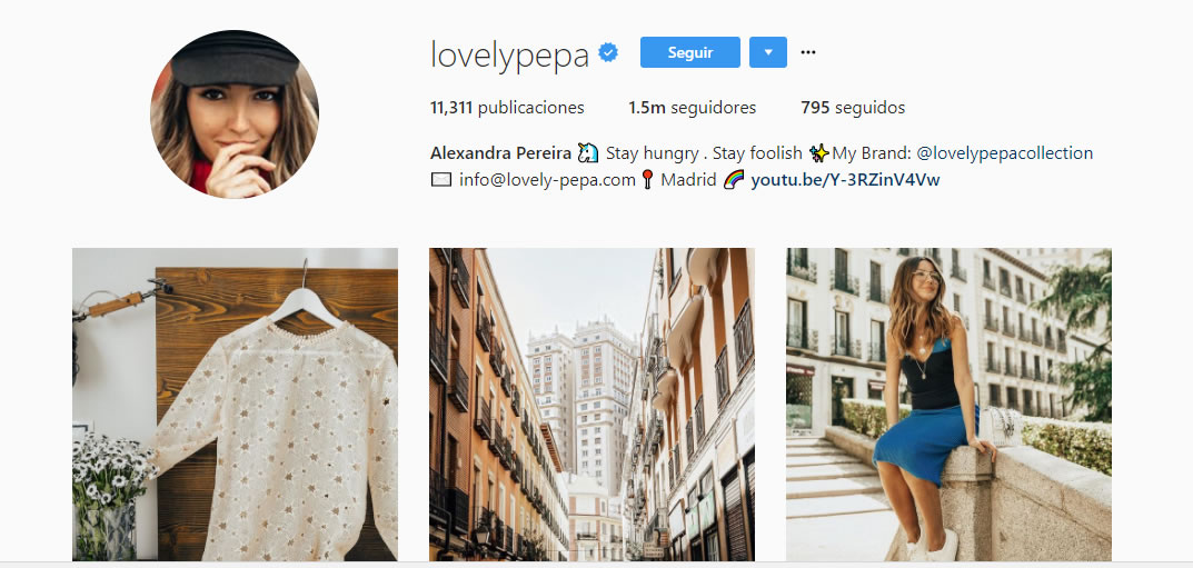 influencers de moda: Lovely Pepa