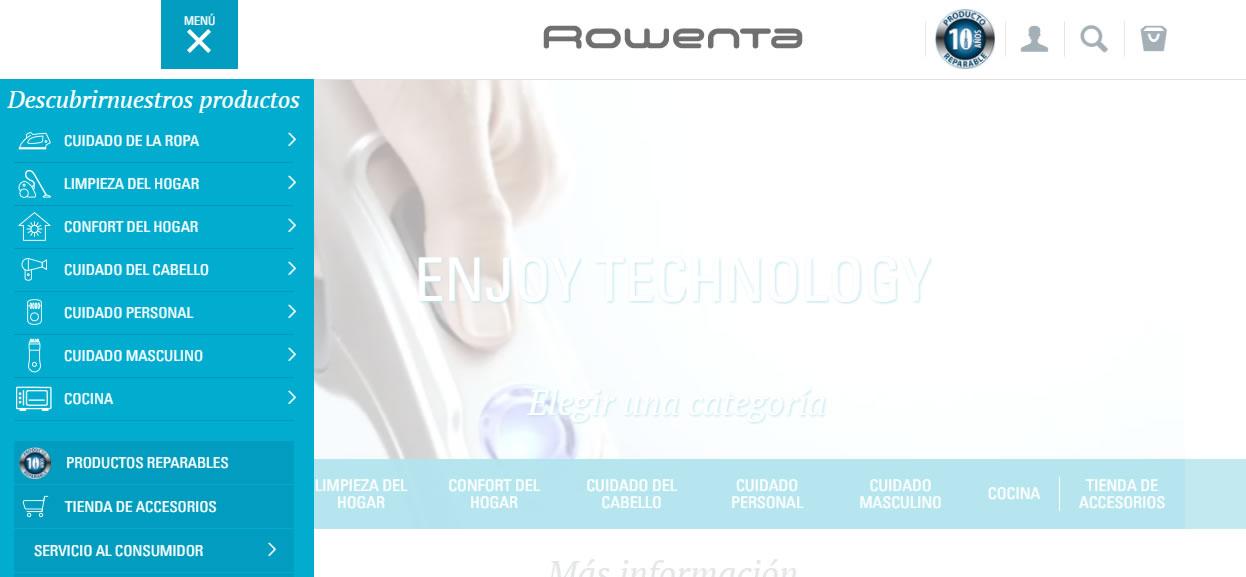 buenas prácticas de content marketing: Rowenta