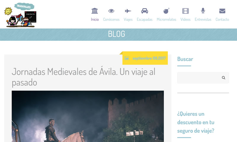 blogs de viajes en español: Tragaviajes