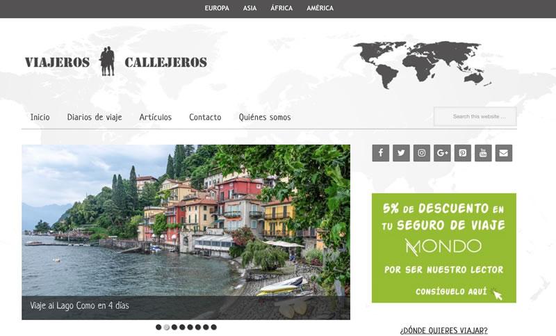 blogs de viajes en español: Viajeros callejeros
