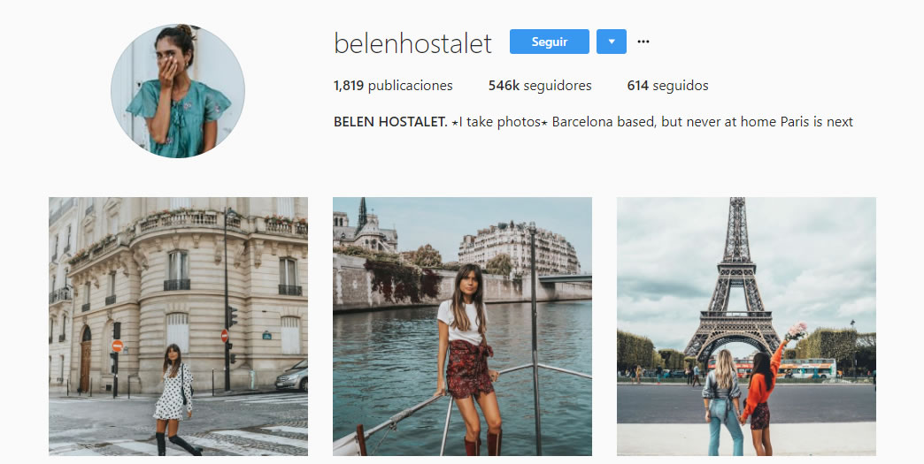 influencers de moda: Belén Hostalet