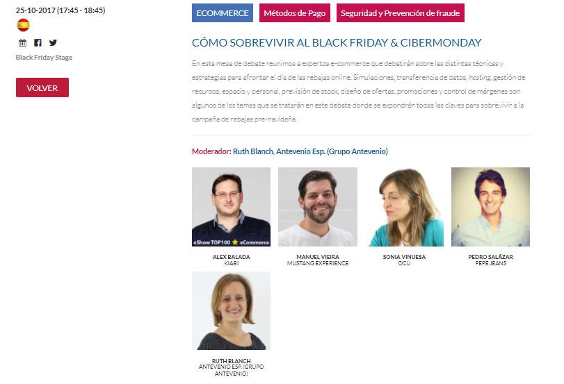 Mesa redonda en eShow Madrid 2017