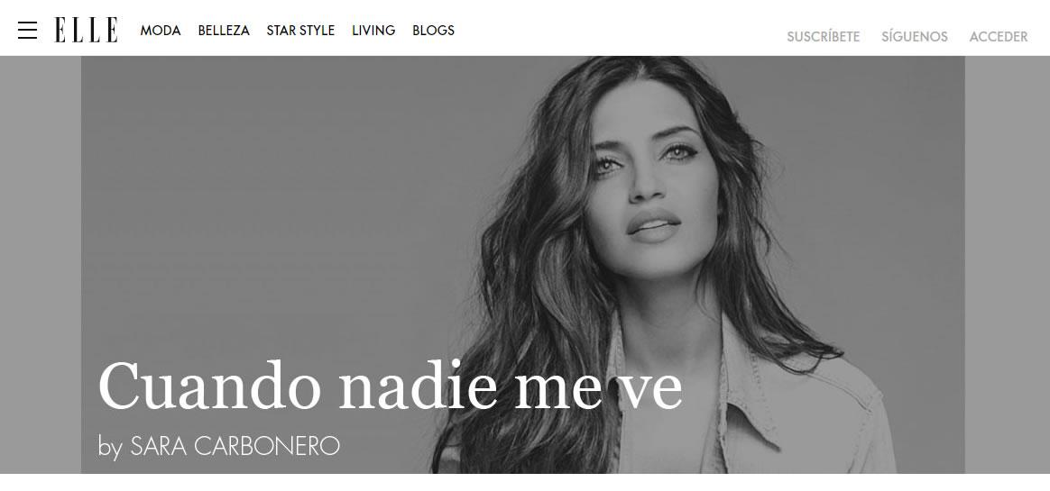 influencers de moda: Sara Carbonero