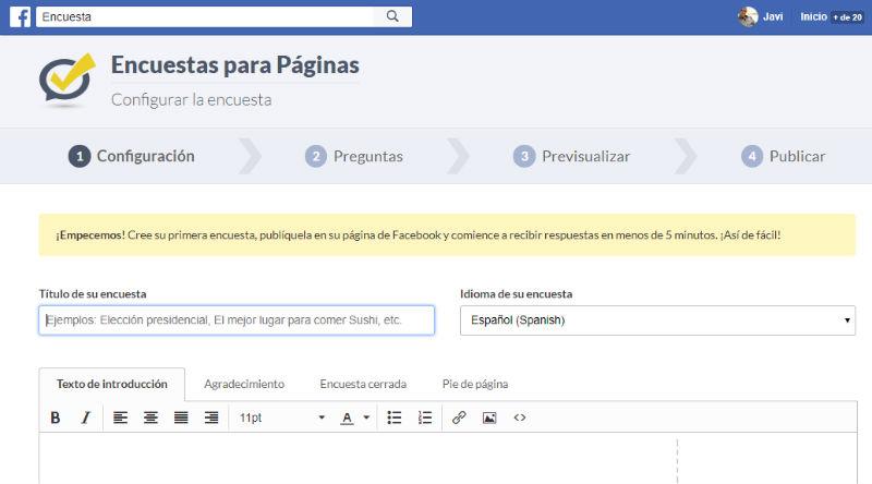 facebook encuestas