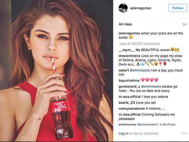 influencer marketing: Selena Gómez