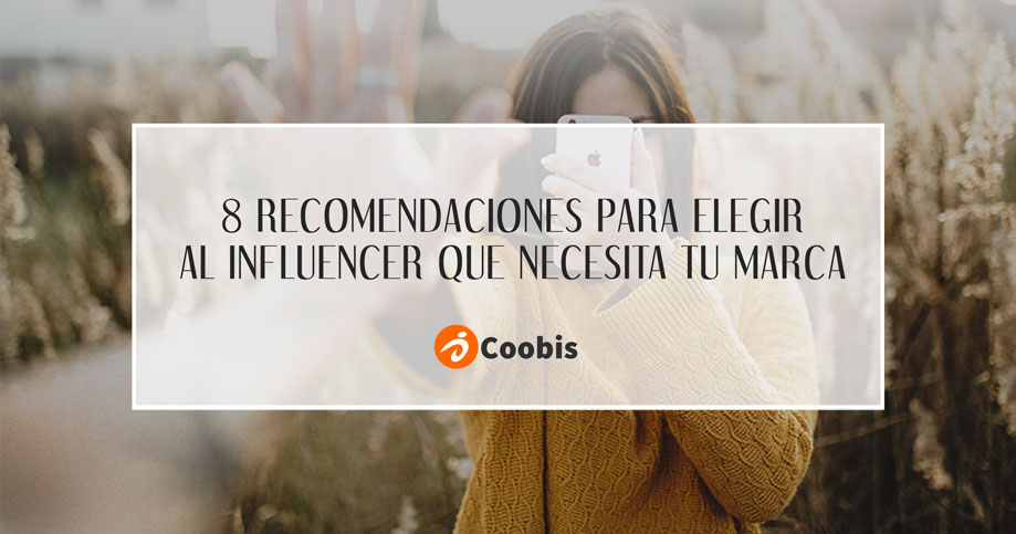 elegir a un influencer