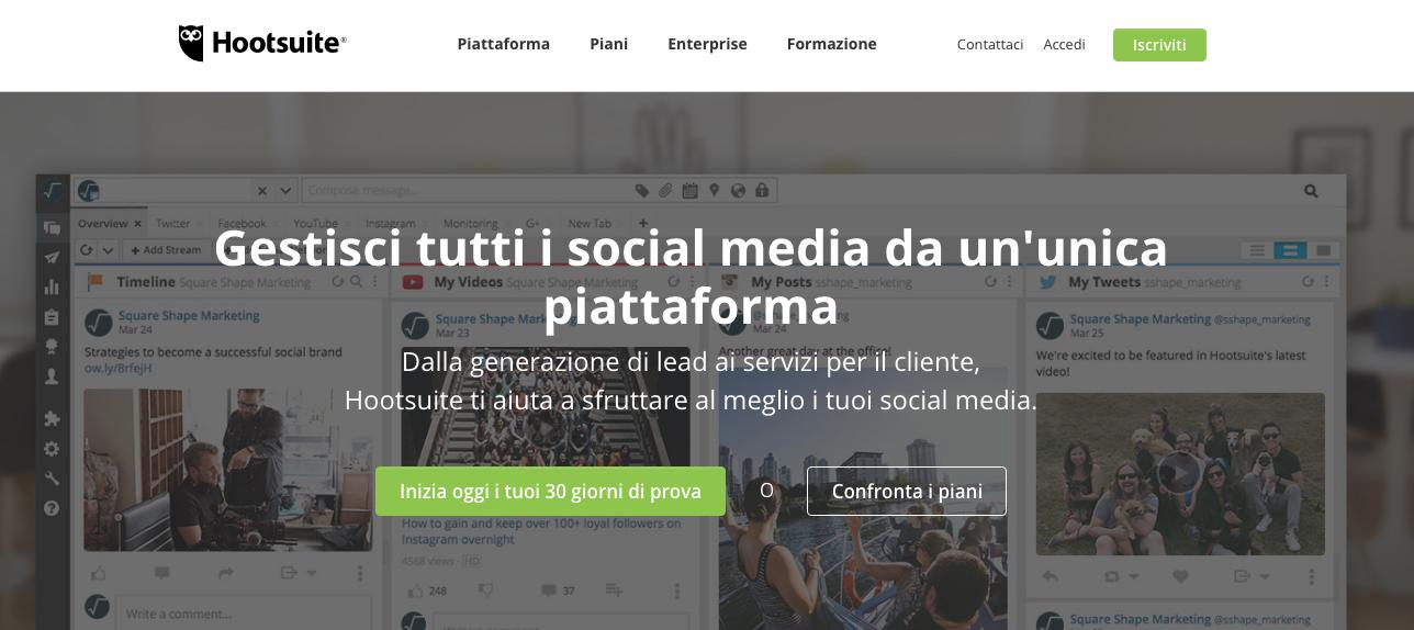 app creare social contenuti