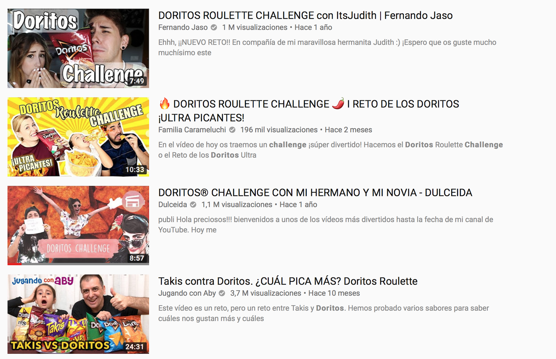 campaña doritos youtube