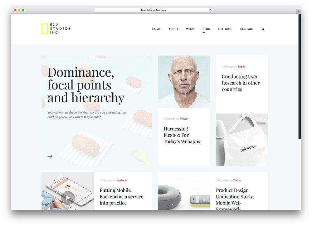 template responsive per bloggers