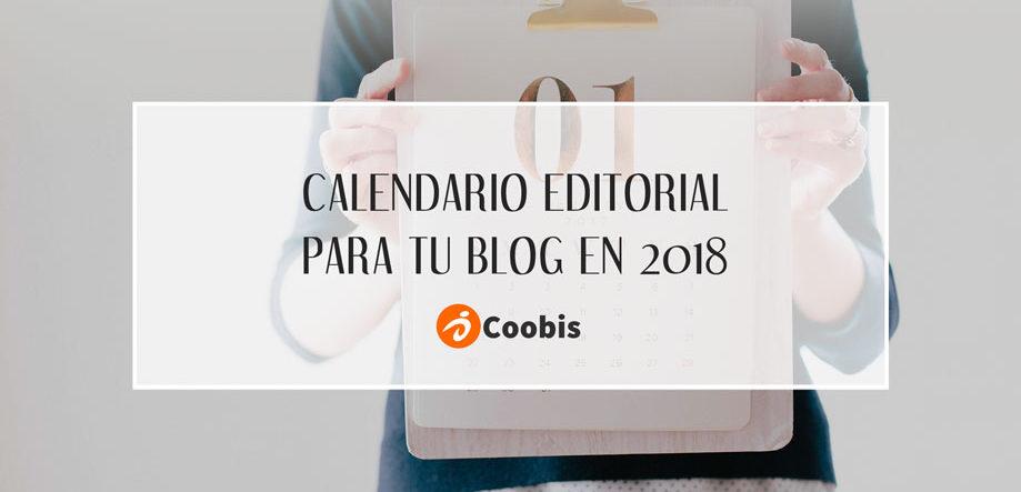 calendario editorial para tu blog en 2018