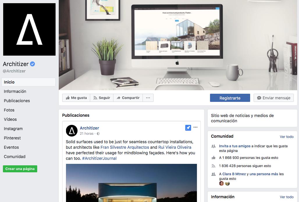P ginas de facebook de arquitectura con las que inspirarte for Paginas arquitectura