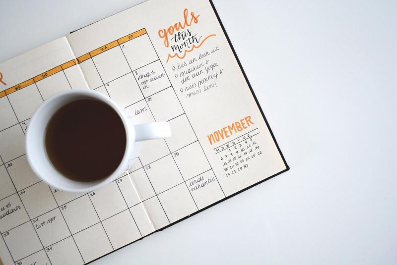 calendario di pubblicazioni sui social