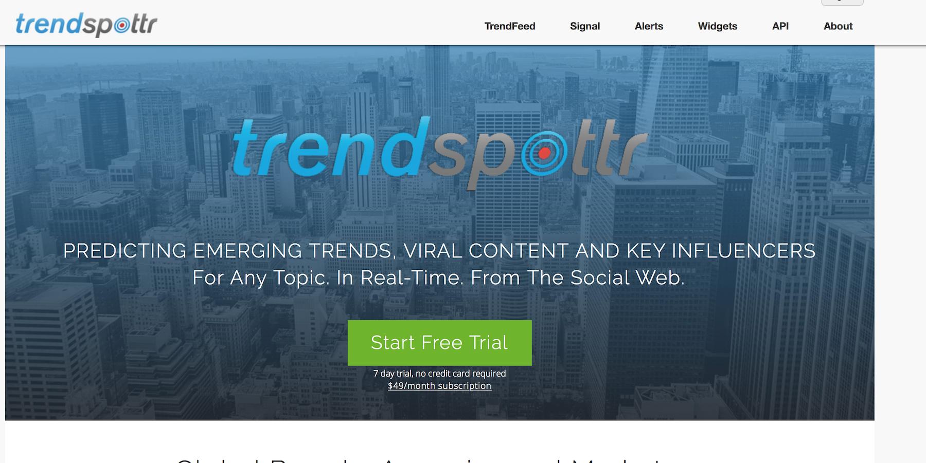 10 strumenti per monitorare temi attuali: Trendspottr